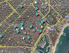 Карта барселона