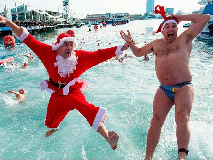 Рождественский заплыв