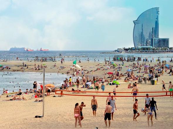 пляж Барселона